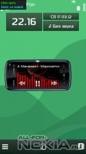 Nokia 5800 XpressMusic mod for TTPod by RAZOR-DEATH