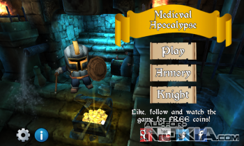 Medieval Apocalypse для Windows phone - Главное меню