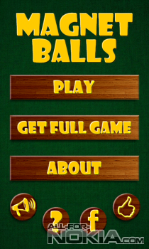 Magnet Balls Free для Windows Phone - Главное меню