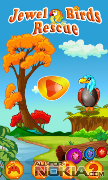 Jewel Birds Rescue для Windows Phone - Главное меню