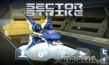 Sector Strike для Windows Phone - Главное меню