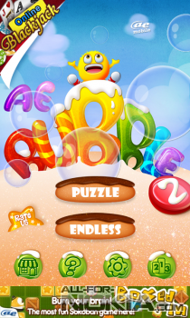 AE Bubble 2 для Windows Phone - Главное меню
