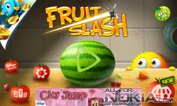 AE Fruit Slash для Windows Phone - Главное меню