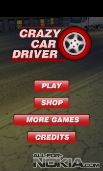 Crazy Car Driver для Windows Phone - Главное меню