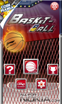 AE Basketball для Windows Phone - Главное меню