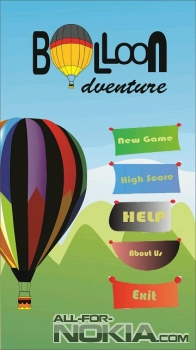 Главное меню Balloon Adventure для Symbian Belle